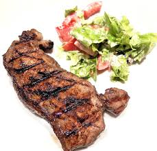 steak and salad image